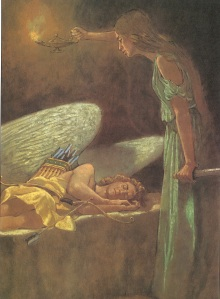 Illustration of Psyche and Cupid by Troy Howell