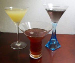 (l. to r.) Princeton, Harvard & Yale cocktails