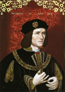The portrait of Richard III from the National Portrait Gallery.