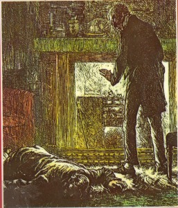 Illustration for cover of Oxford University Press paperback edition of Dickens' Drood.