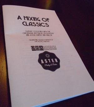 Cocktail Recipe booklet