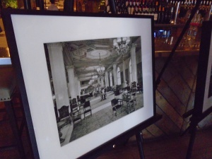 One of the historic photos of the Hotel Syracuse on display at Aster Parlor & Pantry.