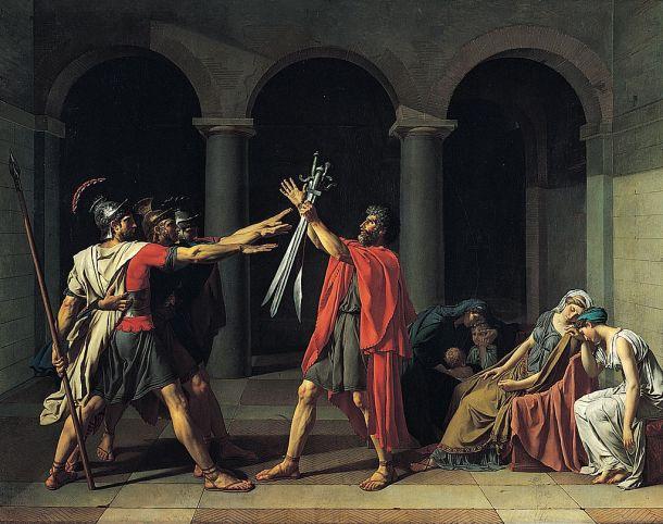 Le Serment des Horaces (1784) Jacques-Louis David